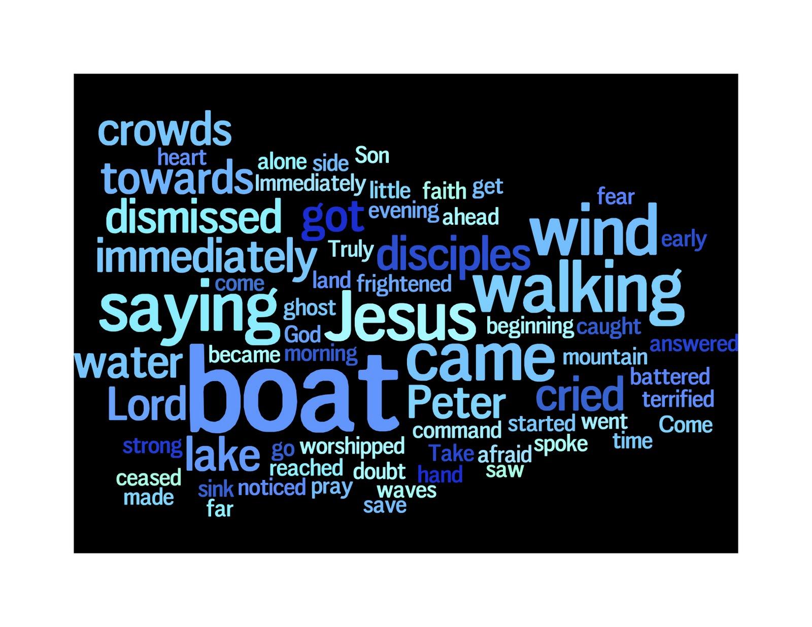 Primer for Sunday: Walking on Water