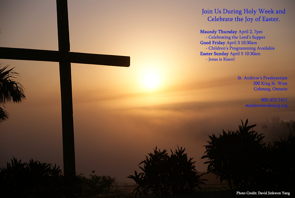 Join us for Holy Week and Easter Sunday