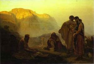 Job and his Friends, Ilya Repin