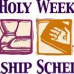 Holy Week Worship Services