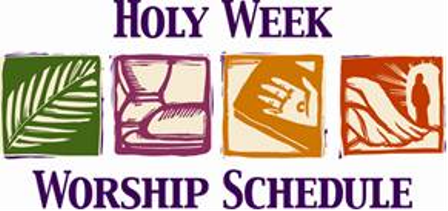 Holy Week Worship Services