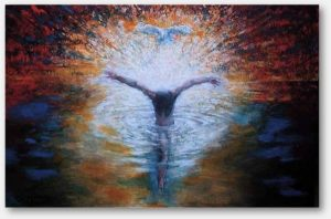 The baptism of Jesus.