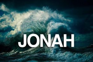 A picture of a wave with the word Jonah on top.