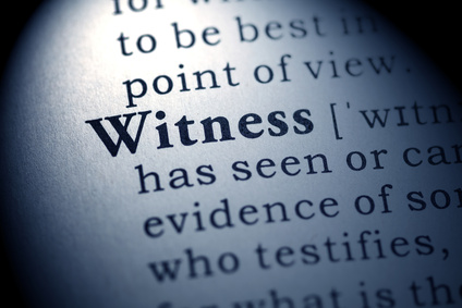 Preparing for Sunday: Witnesses