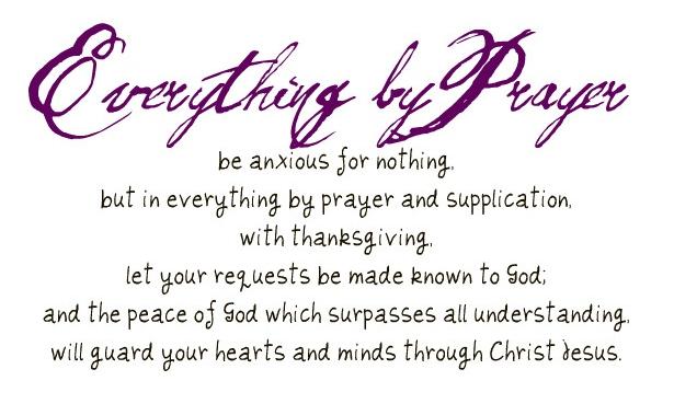 Everything by Prayer
