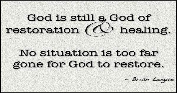 Restoration in relationships will happen through ... |Restoration Of Relationship