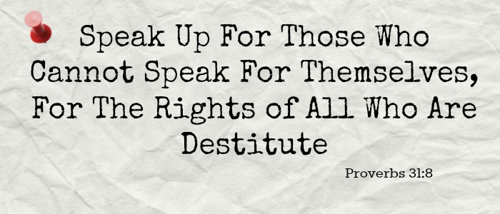 Speaking Out In Prayer