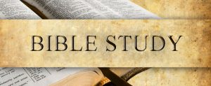 An open bible with the words Bible Study over top.
